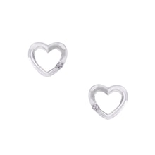 DIAMOND EARRINGS HEART - DIAMOND EARRINGS - EARRINGS
