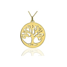Golden Tree of Life Pendant - Gold pendants