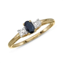 GOLD RING WITH SAPPHIRES AND BRILLIANTS - GOLD RINGS - RINGS