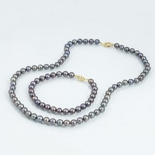 NECKLACE AND BRACELET OF PEARLS - PEARL SETS - PEARLS