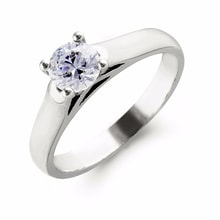 SOLITAIRE DIAMOND ENGAGEMENT RING - DIAMOND ENGAGEMENT RINGS - ENGAGEMENT RINGS WITH GEMSTONES