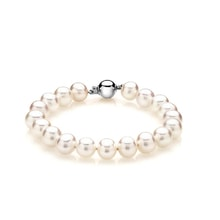 PEARL BRACELET WITH WHITE GOLD CLOSING - PEARL BRACELETS - PEARLS