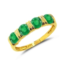 EMERALD RING, 14K SOLID GOLD - EMERALD RINGS - RINGS