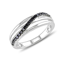 Diamond sterling silver ring - Diamond rings