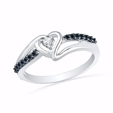 Silver diamond ring - Diamond Rings