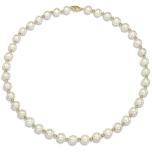 PEARL NECKLACE WITH GOLD - PEARL NECKLACE - PEARLS