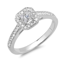 DIAMOND ENGAGEMENT RING IN WHITE GOLD - LUXURY JEWELLERY - JEWELLERY BY KLENOTA