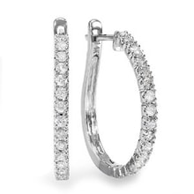 DIAMOND EARRINGS IN WHITE GOLD - DIAMOND EARRINGS - EARRINGS