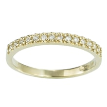 DIAMOND YELLOW GOLD RING - WOMEN'S WEDDING RINGS - WEDDING RINGS WITH GEMSTONES