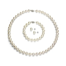 Pearl set necklace, bracelet and earrings - Pearl sets
