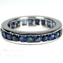 SAPPHIRE RING, SILVER - JEWELLERY SALE
