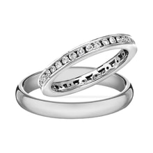 White gold wedding set with diamonds - Diamond Wedding Rings
