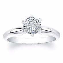 LUXURY ENGAGEMENT RING MADE OF WHITE GOLD WITH DIAMOND - DIAMOND ENGAGEMENT RINGS - ENGAGEMENT RINGS WITH GEMSTONES
