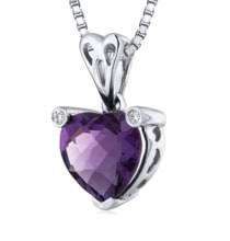 Heart amethyst pendant - Jewellery Sale