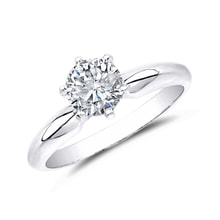 LUXURY ENGAGEMENT RING MADE OF WHITE GOLD WITH DIAMOND - BRILLIANT ENGAGEMENT RINGS - ENGAGEMENT RINGS