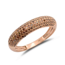 Wedding ring in rose gold with diamonds - Rose gold rings