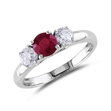 Ruby and diamond ring - Ruby Rings