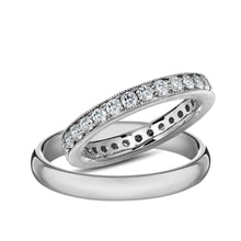 Golden ring with diamonds - Diamond wedding rings