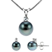 TAHITIAN PEARL SET OF PEARLS, 14K GOLD - PEARL SETS - PEARLS