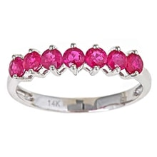 RUBY RING IN WHITE GOLD - RUBY RINGS - RINGS
