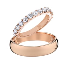 Wedding rings in rose gold - Rose Gold Rings