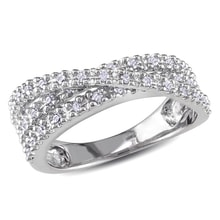 SILVER DIAMOND RING - STERLING SILVER RINGS - RINGS
