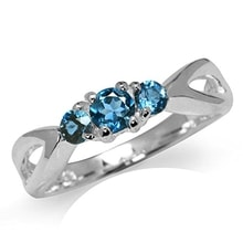 SILVER RING WITH TOPAZ LONDON - TOPAZ RINGS - RINGS