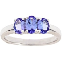 SILVER RING WITH TANZANITE 1.08 KT - TANZANITE RINGS - RINGS
