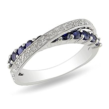 RING WITH SAPPHIRES AND DIAMONDS - SAPPHIRE RINGS - RINGS