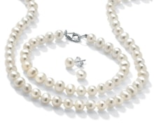 PEARL SET FROM FRESHWATER PEARLS - PEARL SETS - PEARLS