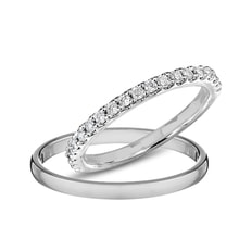 Wedding rings in white gold with diamonds - Diamond Wedding Rings