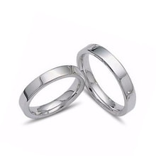 Wedding rings in 14K white or yellow gold - White gold wedding rings