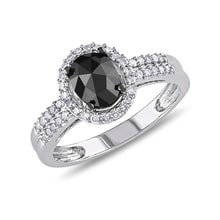 Diamond ring in 14kt white gold - Diamond Rings