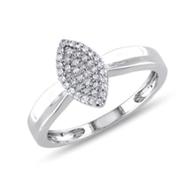 Sterling silver diamond ring - Diamond rings