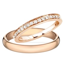 WEDDING RINGS IN GOLD WITH DIAMONDS - DIAMOND WEDDING RINGS - WEDDING RINGS WITH GEMSTONES