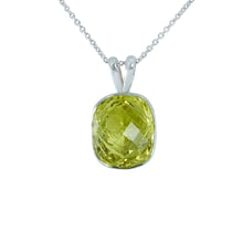SILVER PENDANT WITH CITRINE - JEWELLERY SALE