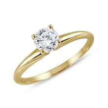 Gold diamond ring - White gold rings