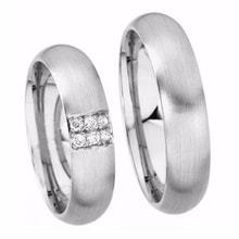WEDDING RING WITH DIAMONDS - WHITE GOLD WEDDING RINGS - WEDDING RINGS WITH GEMSTONES
