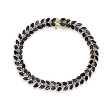 Gold plated bracelet sapphire and diamond - Women's Bracelets