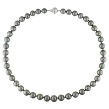 NECKLACE MADE OF TAHITIAN PEARLS AND DIAMONDS. - PEARL NECKLACE - PEARLS
