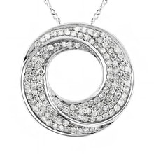 ROUND PENDANT IN WHITE GOLD WITH DIAMONDS - DIAMOND PENDANTS - PENDANTS