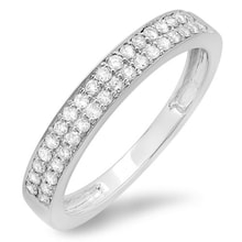 A DIAMOND RING IN WHITE GOLD - WHITE GOLD RINGS - RINGS