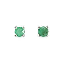 STERLING SILVER EMERALD EARRINGS - EMERALD EARRINGS - EARRINGS