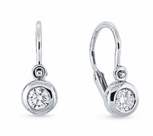 CHILDREN'S DIAMOND EARRINGS, WHITE GOLD - JEWELLERY BY GEMSTONE