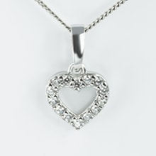CZ HEART PENDANT IN GOLD - JEWELLERY SALE
