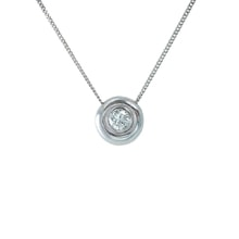 WHITE GOLD PENDANT WITH DIAMONDS - JEWELLERY BY KLENOTA