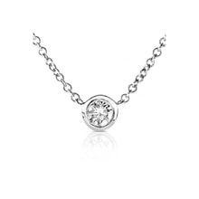 Diamond necklace in 14kt white gold - Diamond Pendants