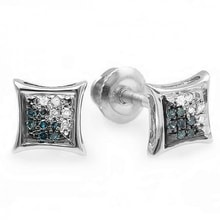 TWO-COLOR DIAMOND EARRINGS - DIAMOND EARRINGS - EARRINGS