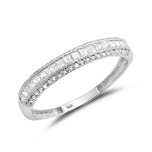 Wedding ring made of white gold with many diamonds - Diamond Rings