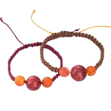 SET OF TWO BRACELETS WITH CORAL AND AGATE - JEWELLERY SALE